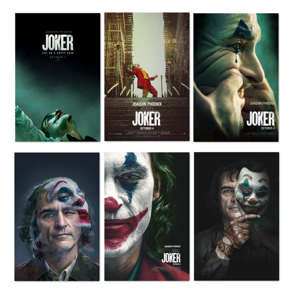 2019 фильм Джокер Шелковый постер Джокер происхождение кино печать комиксы настенное Искусство Декор холст картины фильм плакаты