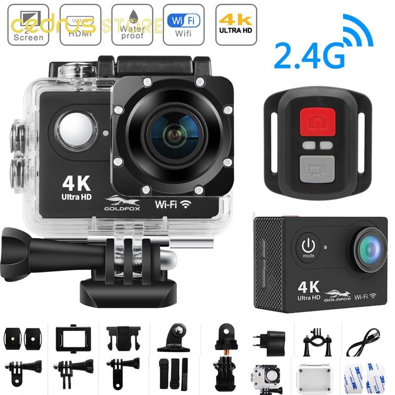 واي فاي عمل كاميرا الترا HD 4K 25fps 12MP 2.0 ''شاشة كاميرا رياضية الذهاب مقاوم للماء برو الرياضة DV 170D واسعة الملاك كاميرا خوذة