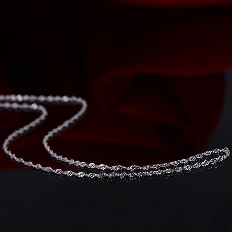 Fine Solid Pt950 Platinum Necklace Women Luck Singapore Chain Link Necklace 40-45cm 2.9-3.5g Best Gift