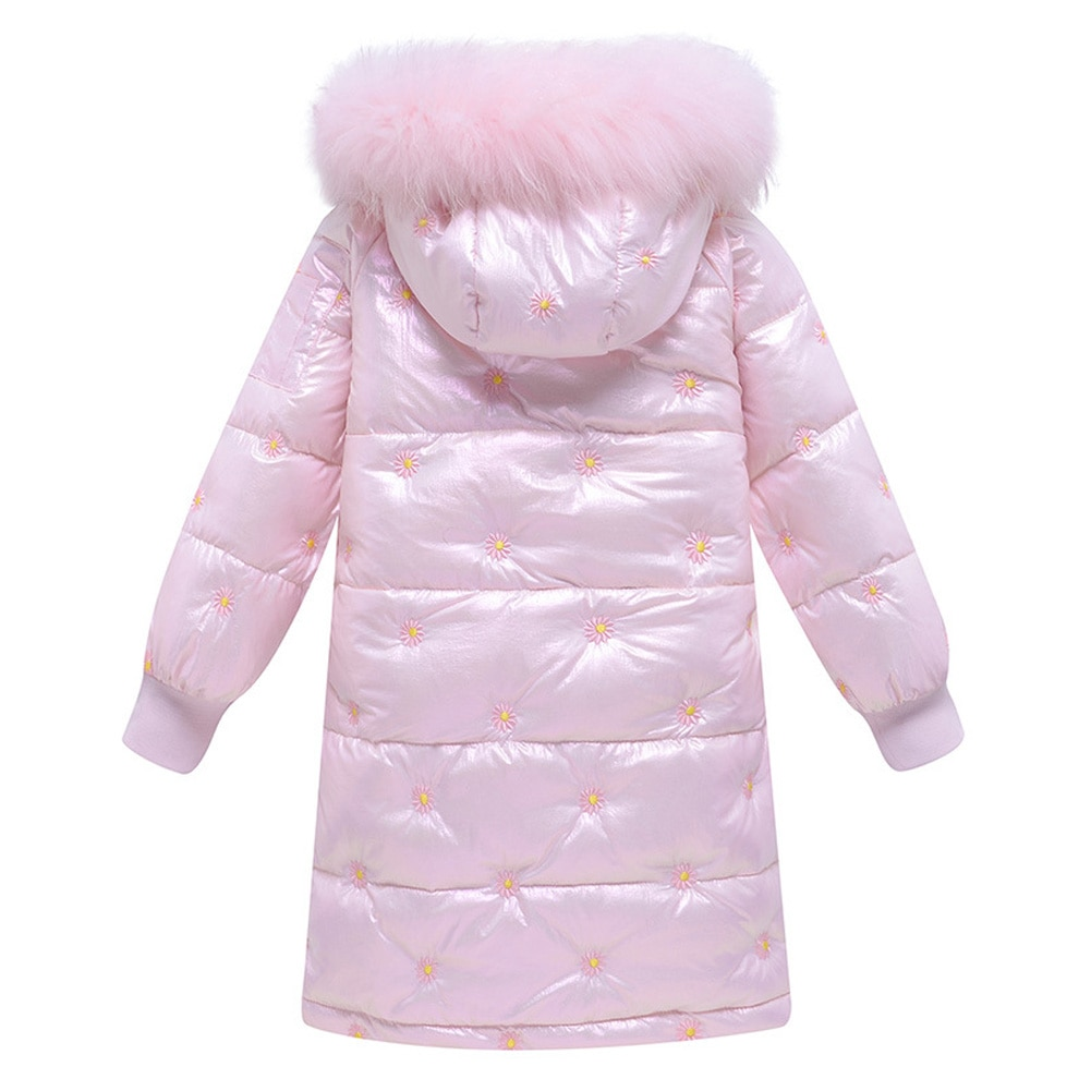 Girls Long Down Coat Thicken Windproof Overcoat Teen Padded Puffer Jackets Casual Winter Hooded Outerwear Warm Outdoor Clothes enlarge