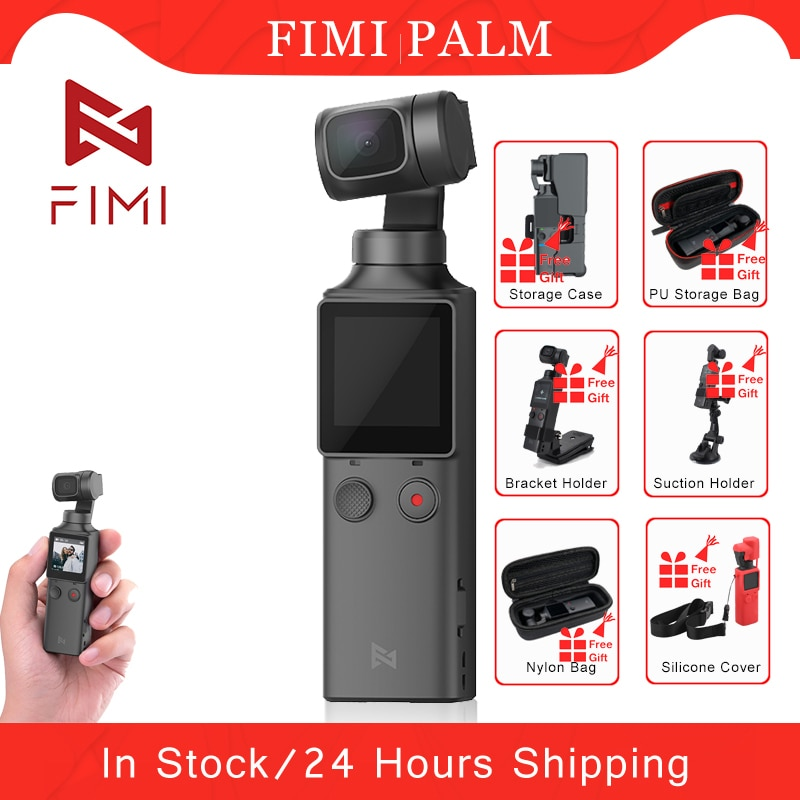 Estabilizador de cámara de cardán de mano de Palma de flimi 3 ejes 4K UHD 128 grados gran angular Original FIMI bolsillo Cámara accesorios regalo