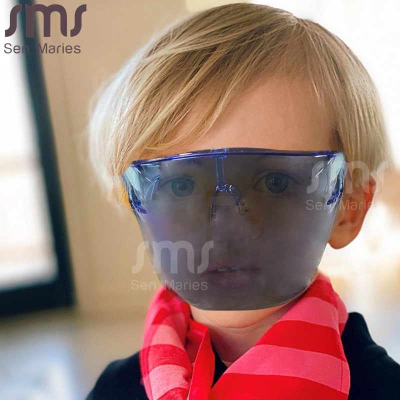 Boy's Girls's Faceshield Protective Glasses Children Goggles Safety Blocc Glasses Mask Kids Face Shi