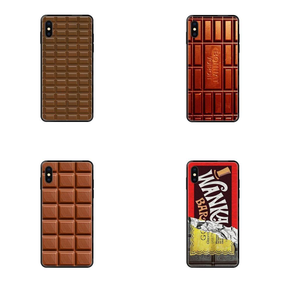 Abrió mitad Chocolate para Samsung Galaxy A5 A6 A7 A8 A10 A10S A20 A20S A20E A21S A30S A40 A50 A70 A71 A70E TPU venta superior