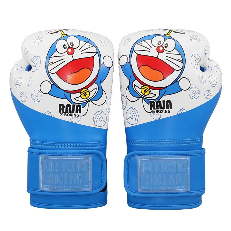 Детские Боксерские перчатки муай-тай 4 унции, цветные Мультяшные Боксерские перчатки для мальчиков и девочек для боевых искусств и боевых т...