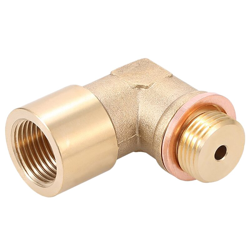 Angle 90° Lambda O2 Oxygen Sensor Extender Spacer For Decat Hydrogen