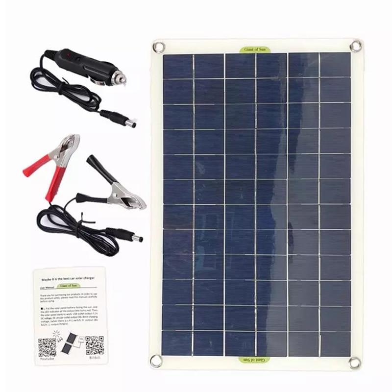 50 واط لوحة طاقة شمسية USB الناتج الخلايا الشمسية لوح شمسي رخيص لوحة طاقة شمسية لشاحن طاقة البطارية 12 فولت/24 فولت