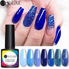 UR sucre 7.5ml bleu série paillettes Gel vernis à ongles paillettes brillantes Laser UV Gel vernis tremper UV LED Gel vernis