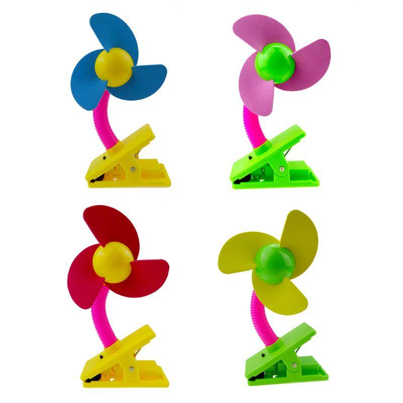 Ventilador de Clip colorido portátil MEXI, ventilador de aire silencioso USB/ventilador de refrigeración alimentado por batería para cochecito de bebé, cuna, oficina en casa