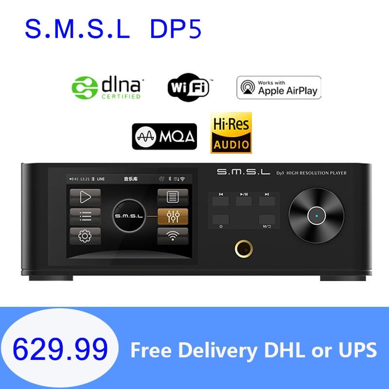 مشغل موسيقى شبكة HIFI ، وحدة فك ترميز كاملة SMSL DP5 MQA ، مشغل موسيقى ES9038Pro ، تشغيل/بث DSD256 IIS ، USB ، Bluetooth