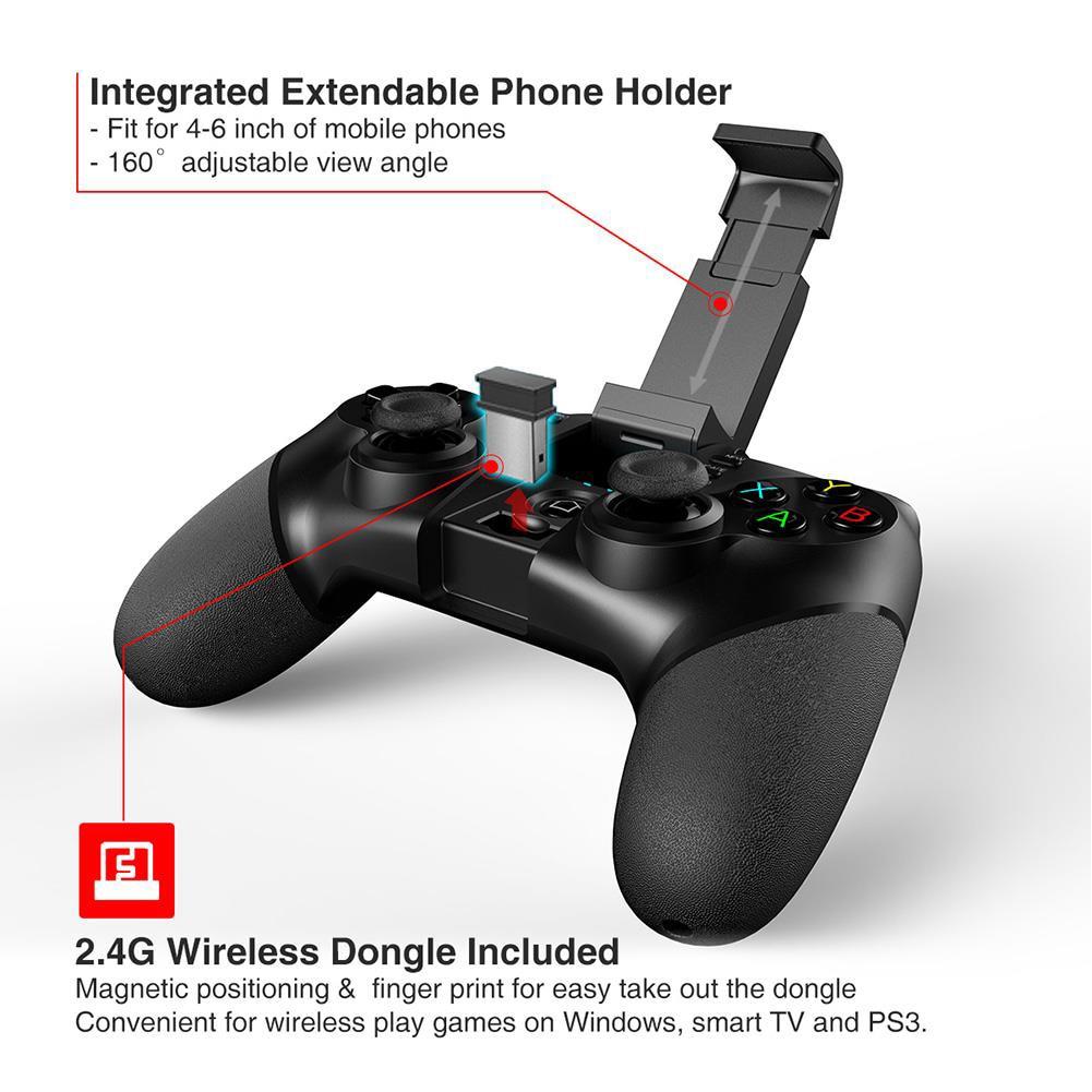 PG-9076 Bluetooth Игровая плата контроллер для Android Мобильный триггер джойстик смартфон ТВ коробка ПК PS3 VR поддержка многих игр