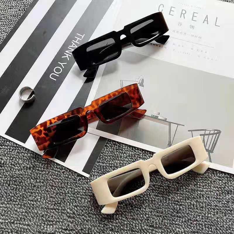 Очки 2021 Модные солнцезащитные очки Маленькая оправа квадратные очки мужские модные индивидуальные солнцезащитные очки для дам