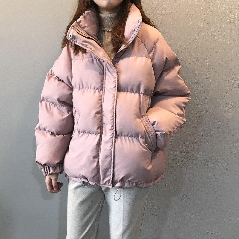 Женская теплая зимняя парка, женская повседневная куртка, парки с воротником-стойкой, свободная утепленная модная верхняя одежда на молнии,...