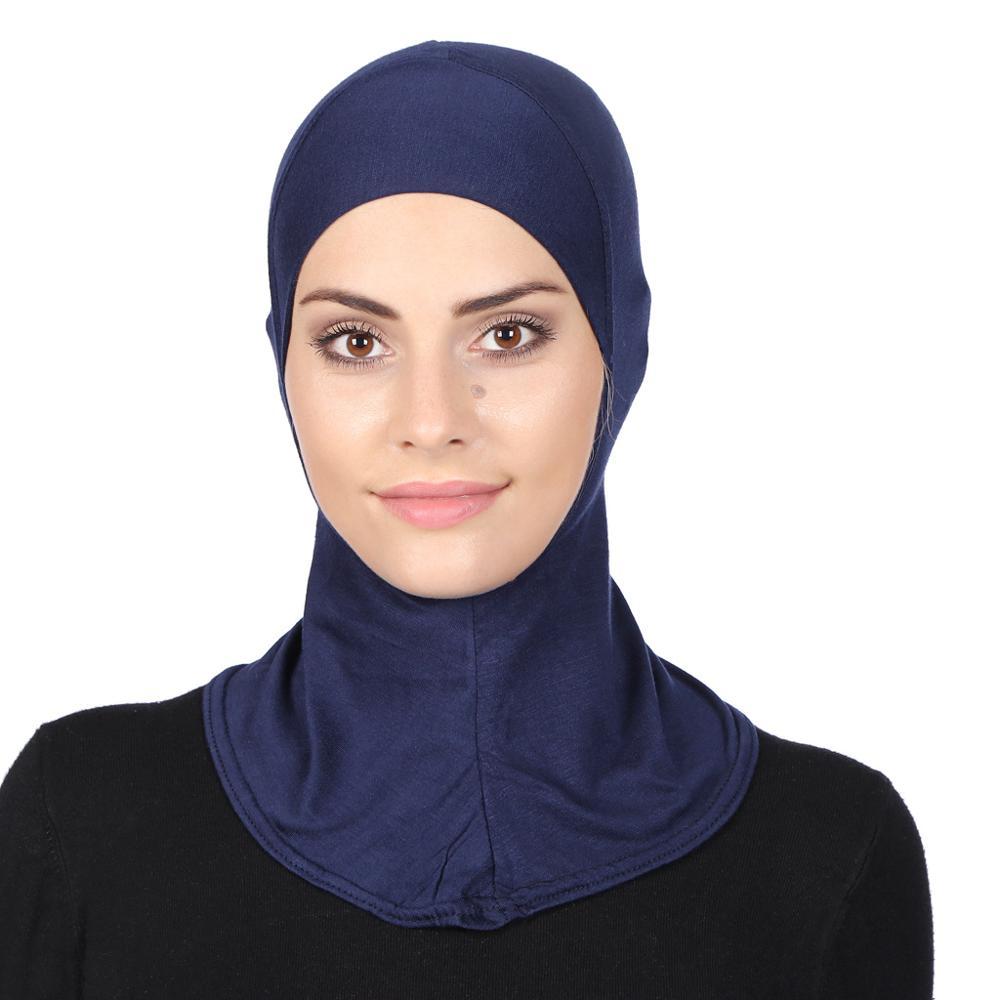 AliExpress - 2021 Factory Direct Supply New Fashion Luxury Cotton Islamic Caps Wholesale Muslim Modal Monochrome Women's Bottom Caps Hijab