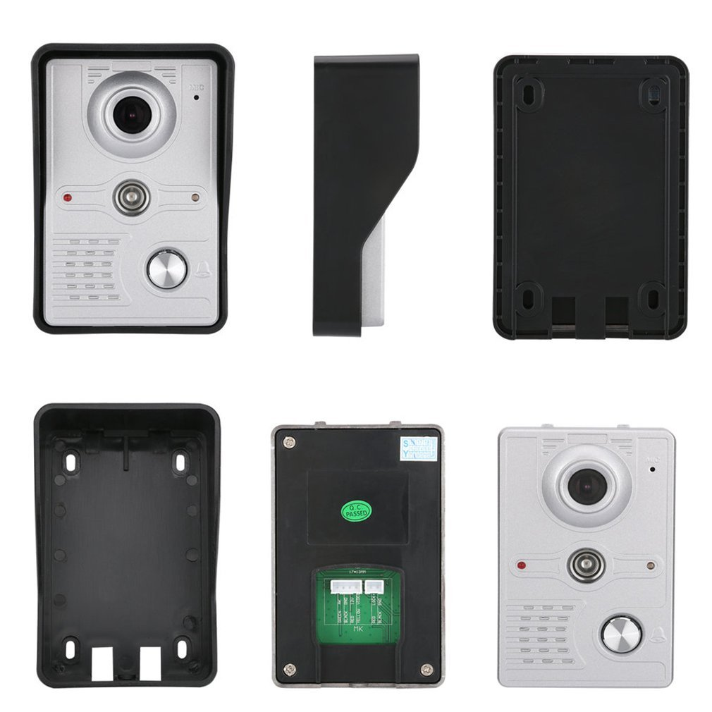 Home 7 Inch TFT LCD Screen Wired hands-free Audio Doorbell Waterproof Night Vision Infrared Doorbell Electric control unlocking enlarge