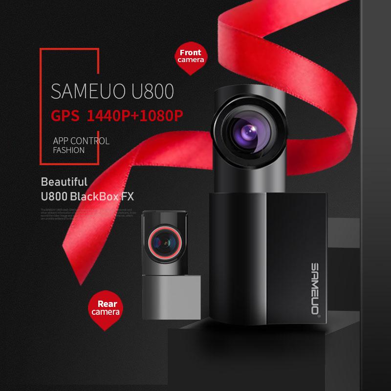 SAMEUO Car Dvr 1440P Speed & Coordinates WiFi GPS Car Dash Camera Mini Hidde Full HD 1080P Auto Night Vision DVR 360 Rotation