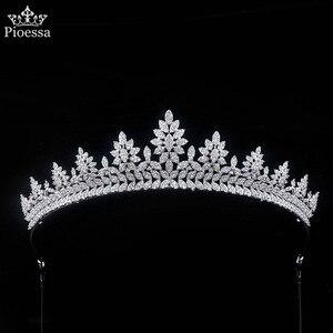 Luxury Bridal Tiara Ladies Full Crystal Crown with Zirconia Wedding Bride Headband Evening Dress and Wedding Dress Accessories
