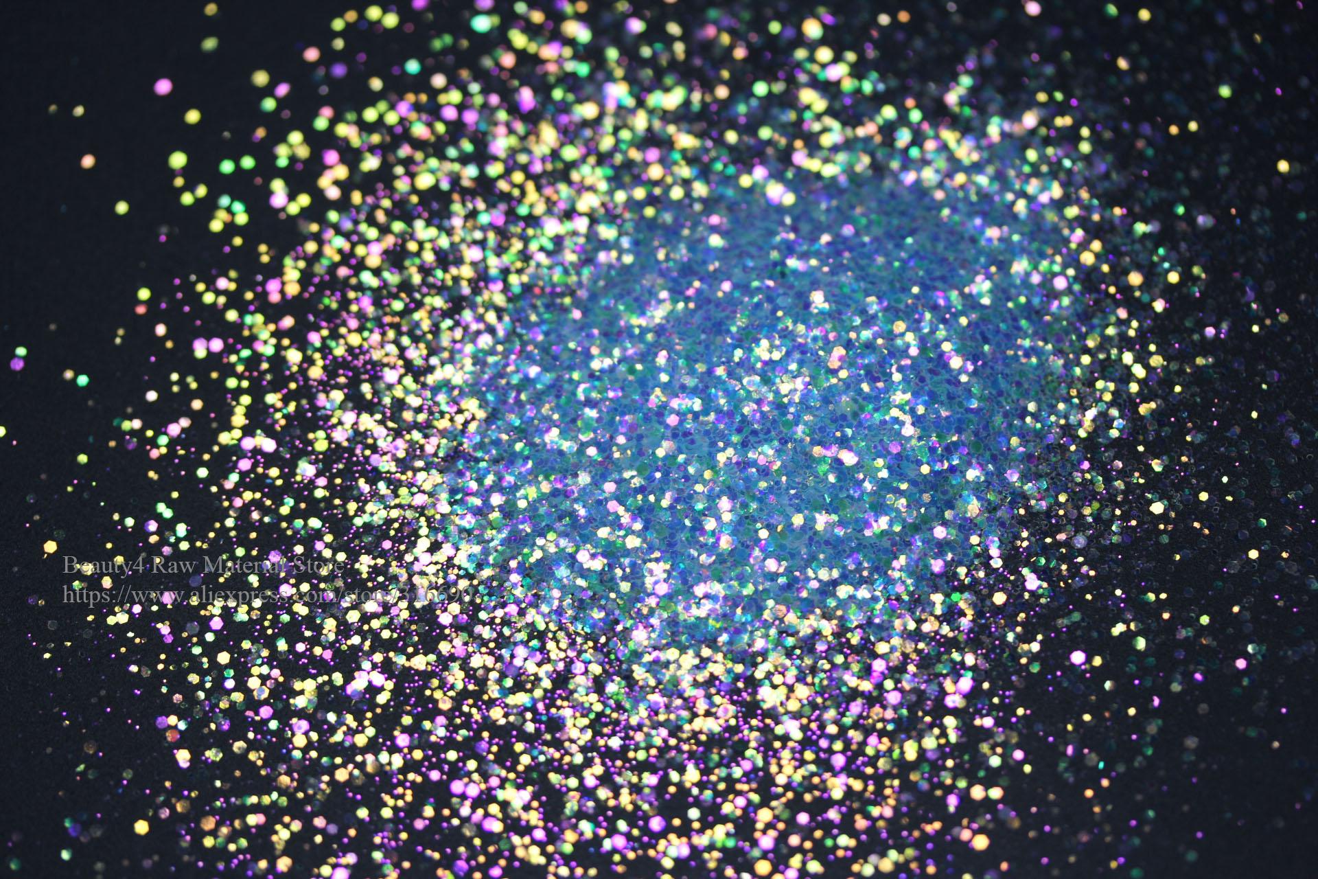 Mezcla de purpurina blanca iridiscente colorida cosmética, purpurina artesanal para arte en uñas, molde epoxi, fabricación de joyas, decoración artística