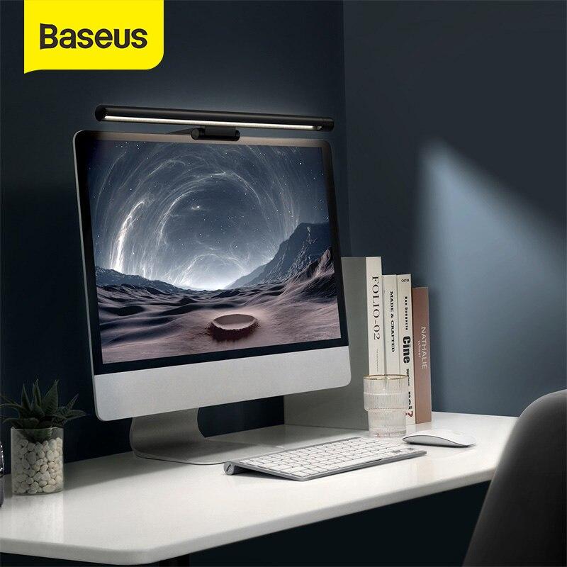 Baseus LED لمبة مكتب مكافحة الأزرق ضوء شاشة معلقة ضوء ستبليس يعتم غير المتماثلة ضوء للكمبيوتر شاشة كمبيوتر شخصي القراءة مصباح