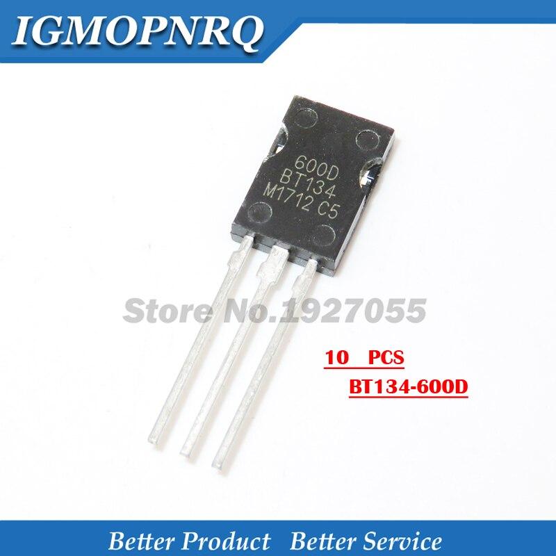 10 pçs/lote BT134-600D PARA-126 BT134 BT134-600 600V 4A Triacs RAIL TRIAC PARA-126 134-600D original novo