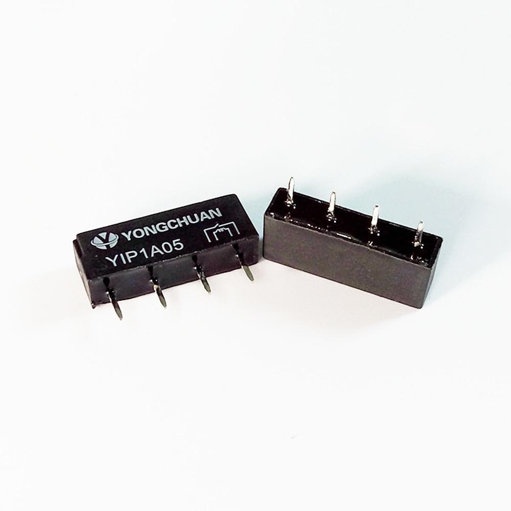 10pcs Reed Relés SIP-1A05 DC5V 12V tamanho pequeno Ultra-fino micro 4 pinos NO Normalmente Aberto Tipo 0.5A 10W 10VA
