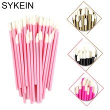 50 Pcs Disposable Lip Brush Lipstick Lip Glossy Eyelash Lash Extension Mascara Wands Applicators Cle