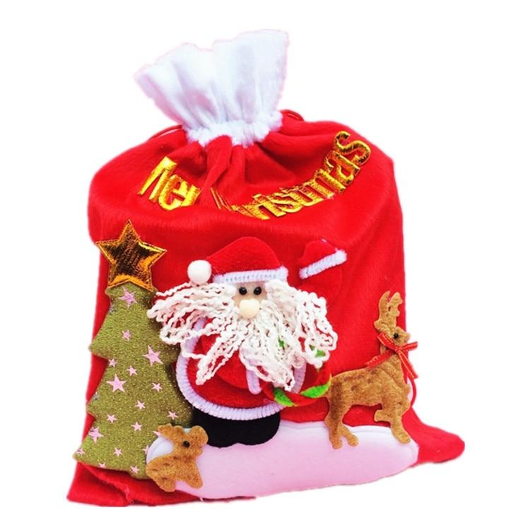 Santa Claus Merry Christmas Gift Bags Big Candy Gift Bag Christmas Tree Elk XMAS Decor Holiday New Y
