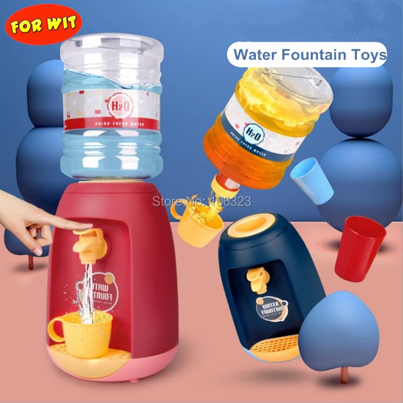 Juguetes de fuente de agua simulada, juego de electrodomésticos, dispensador de bebidas líquidas para niños, juguete de lujo, cubo de agua de 1,8 l