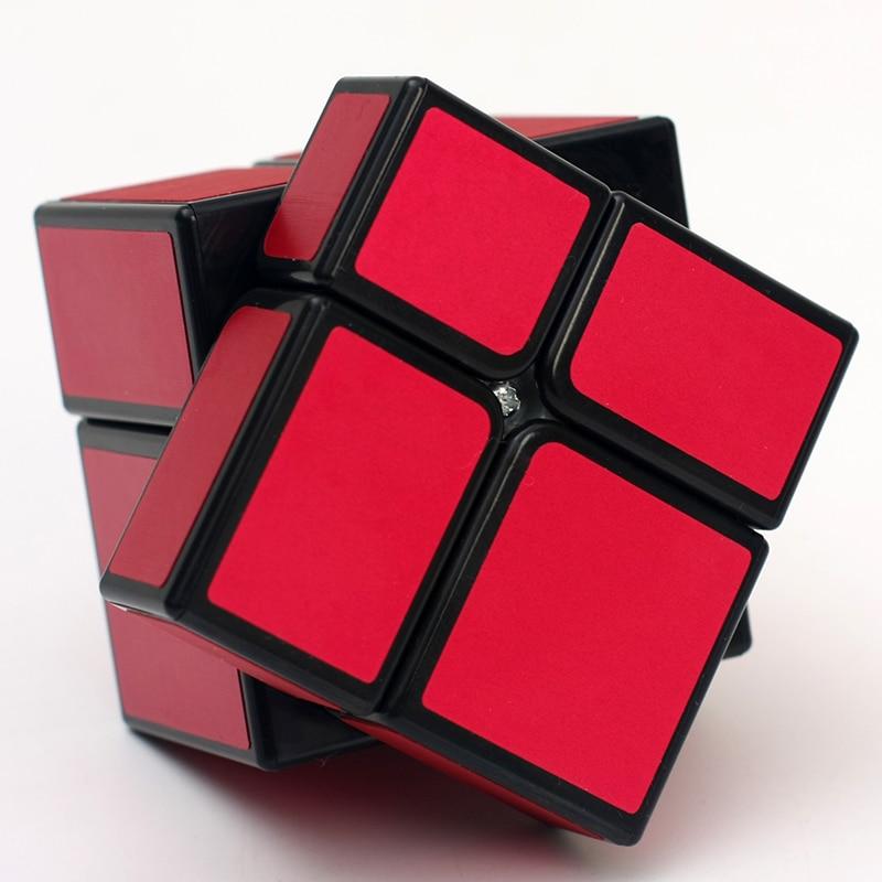 Хит продаж зеркальный блок HelloCube 2x2 куб матовый волшебный куб головоломка 2x2 скоростной куб magico с литым покрытием развивающая детская игрушк...