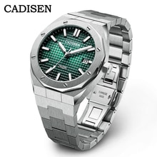 2021 NEW CADISEN Men Watches Mechanical Automatic Japan NH35A Green Watch Men 100M Waterproof Brand