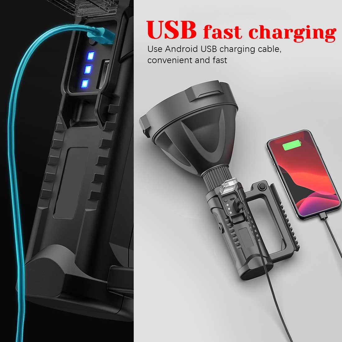XHP50/XHP90 Powerful LED Flashlight Super Bright Portable Spotlights Waterproof Searchlight USB Torch 8000 Lumen Dropshipping enlarge