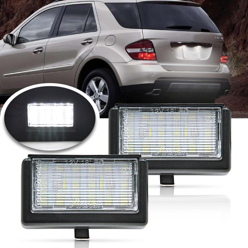 2 uds Canbus Led luz de placa de matrícula para Benz ML W164/X164X Smart Roadster 452 OEM # A4528200056 coche las luces de cola