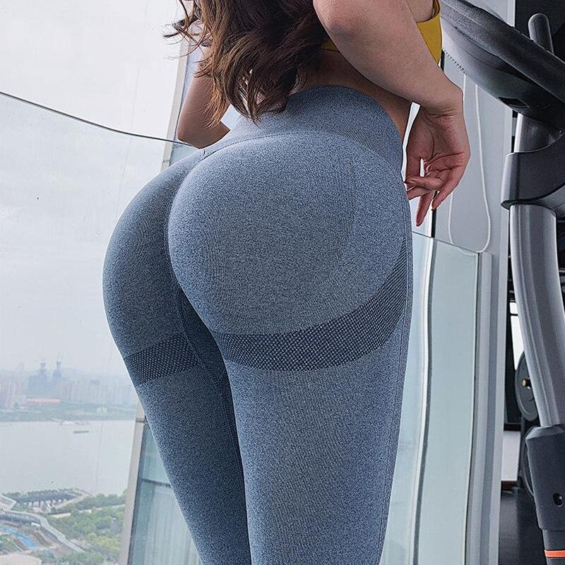 WHOUARE Leggings Women Push Up High Waist Pants Sport Booty Women Fitness Leggings Butt Lift Seamless Leggings Gym Clothing