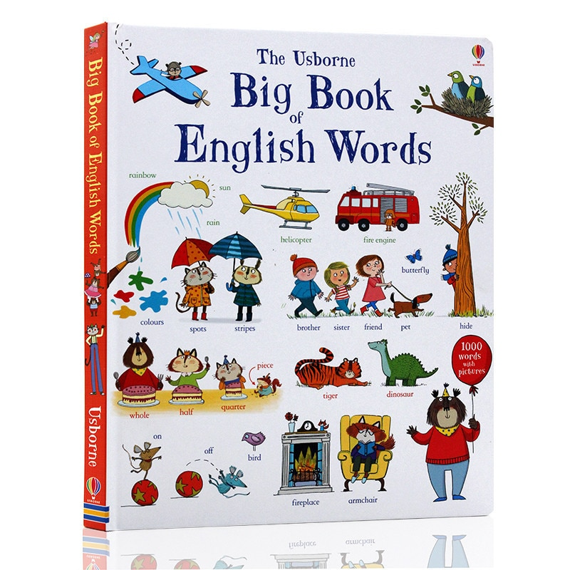 New The Usborne Big Book of English Words learning famous picture borad book for kids boys girls gifts Books early education