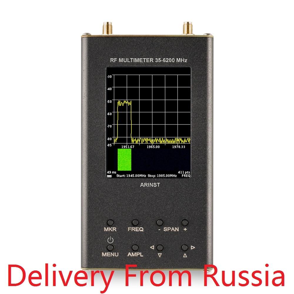 Analizador de espectro RF portátil Arinst SSA-TG R2S con generador de seguimiento 6,2 GHz