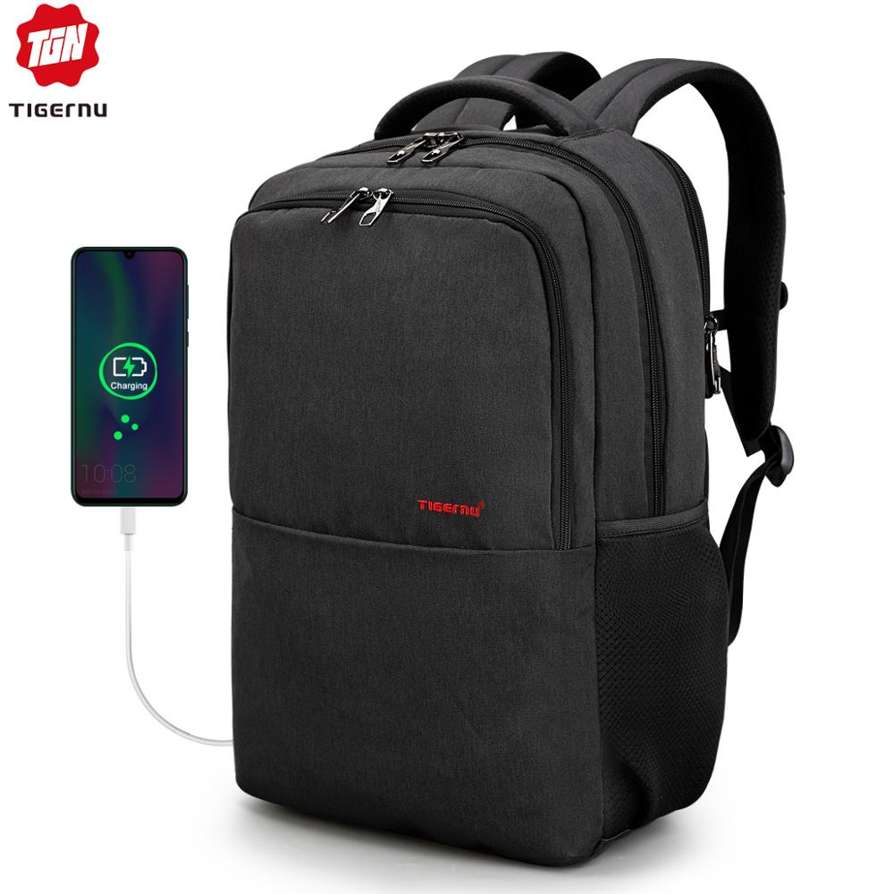 "Homens anti roubo splashproof oxfrod 15.6 ""portátil mochila de carregamento usb masculino mochila de viagem mochila escolar para adolescentes"