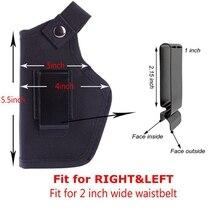 Étui de pistolet à taille droite et gauche réglable Glock 17/USP/SP2022/SIG IBW étui de dissimulation étui de pistolet pour la chasse Airsoft