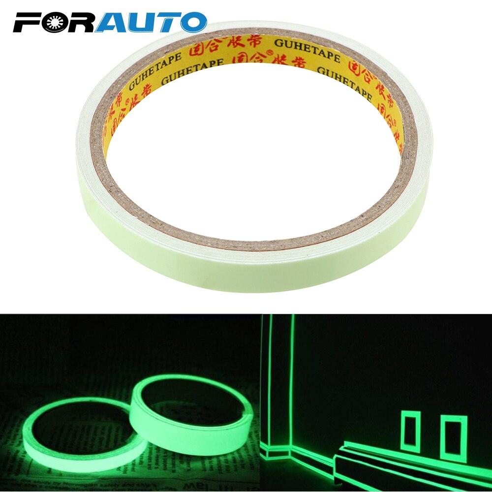 10mm * 3m DIY Auto Sticker visión nocturna advertencia cinta luminosa cinta Auto-adhesivo pegatinas de seguridad Auto