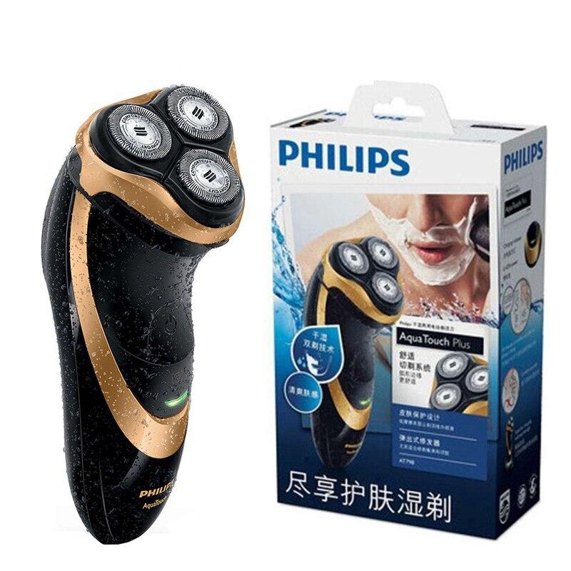 Профессиональная аккумуляторная электробритва Philips AT798 с тройными плавающими