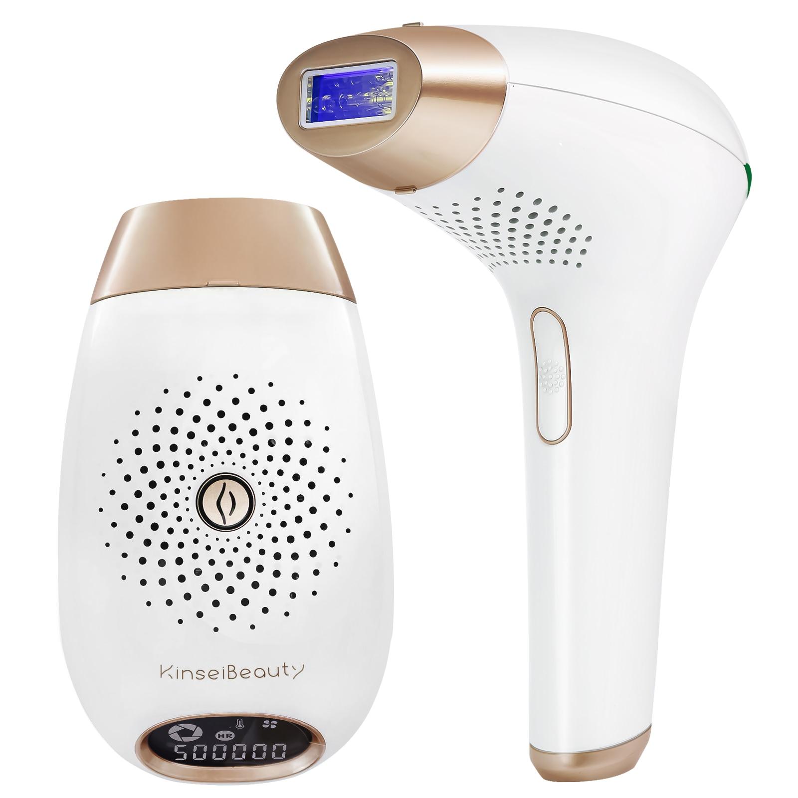 إزالة الشعر بالليزر 500000 ومضات MELSYA IPL إزالة الشعر لنزع الشعر شاشة الكريستال السائل الليزر الدائم بيكيني المتقلب الكهربائية Depilador