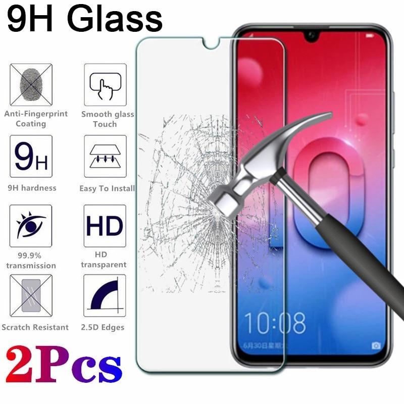 2 piezas de película protectora transparente de vidrio templado para Honor 7C LND L29 6C 5C 4C HD película protectora de pantalla de teléfono para Huawei Honor 8C