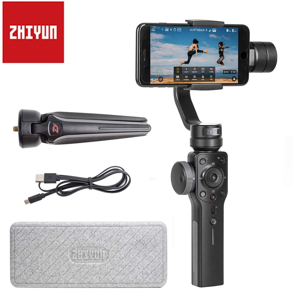 Promo Zhiyun Smooth 4 Vlog Live 3-Axis Handheld Smartphone Gimbal Stabilizer for iPhone Xs Max X 8 7& Samsung S9,S8 7 Action Camera