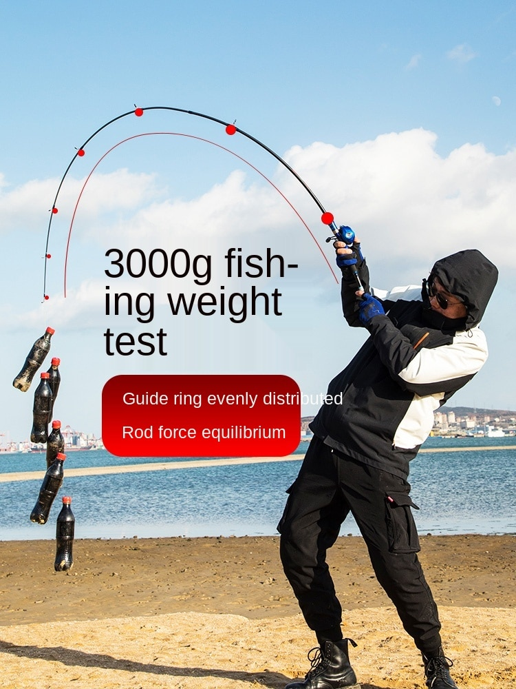 New Carbon Lure Rod Set Drip Wheel Fishing Rod Sea Fishing Rod Casting Rods Luya Set Full Set Instrument Sea Fishing Rod enlarge