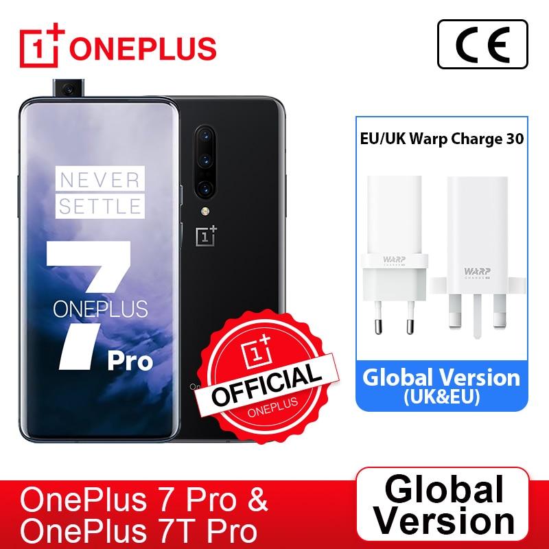 Глобальная версия OnePlus 7 Pro Snapdragon 855 OnePlus 7T Pro Snapdragon 855 плюс, смартфон, четыре ядра, 6,67 дюйм amoled 48MP тройной, ; код: