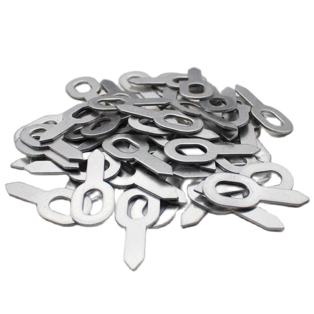 100pcs Aluminum Straight Pull Rings Pads Car Body Repair Tools Dent Puller