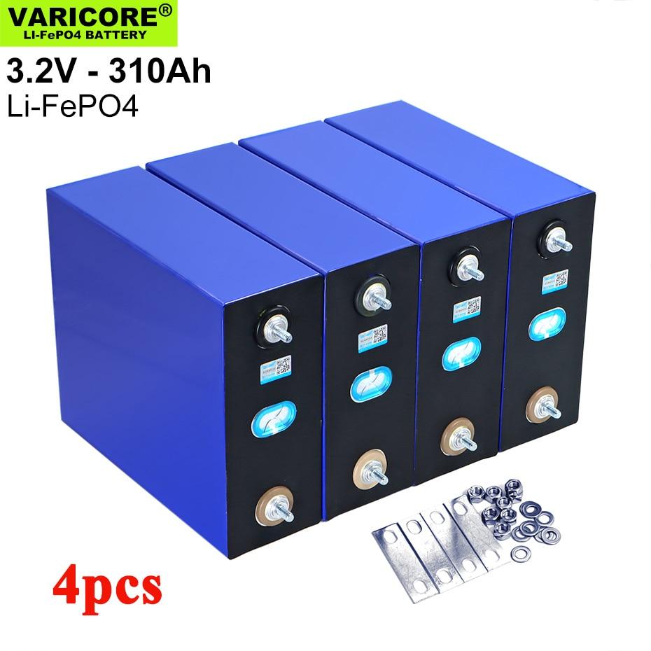 VariCore 4 قطعة 3.2 فولت 310Ah 280Ah Lifepo4 بطارية ليثيوم الحديد الفوسفات الخلايا الشمسية 12 فولت 24 فولت 36 فولت خارج الشبكة الشمسية الرياح معفاة من الضرائب