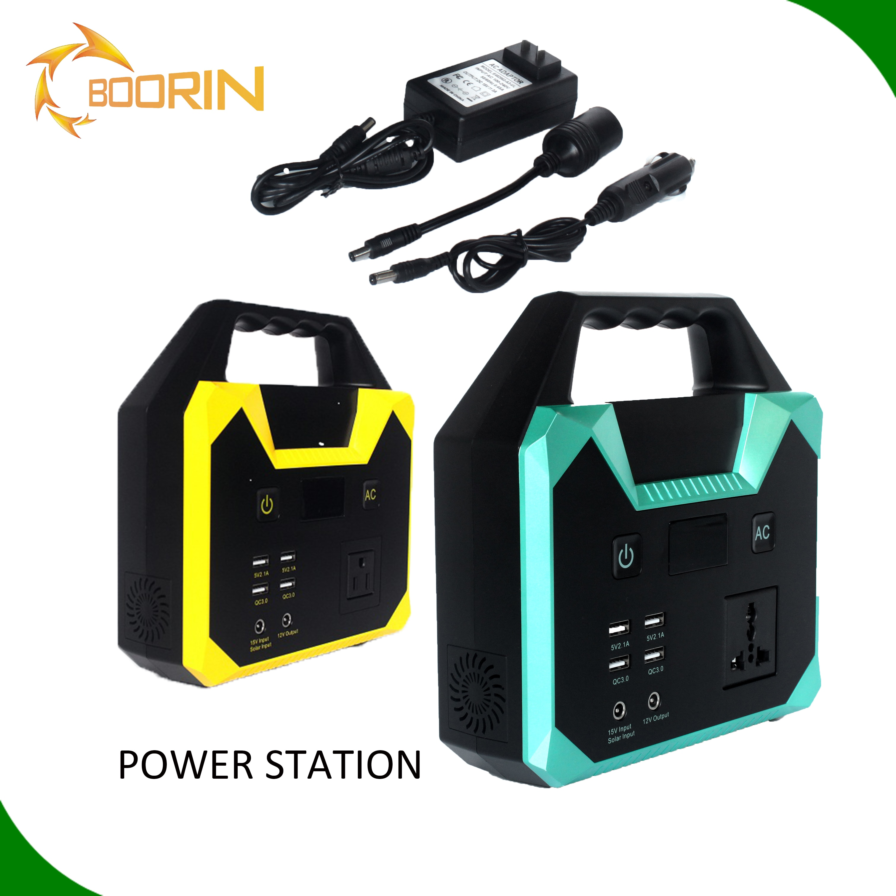Portable Power pack bank Station Solar Generator 200W Pure Sine Wave Inverter Emergency 220v battery Power Supply Charged by Car enlarge