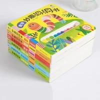 6pcsset baby children chinese and english bilingual enlightenment book 3d three dimensional books cultivate kids imagination