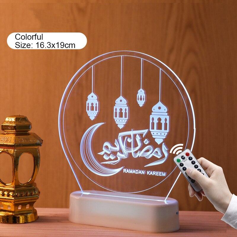Eid e ramadan decoração eid luz da noite ramadan decorações para casa muçulmano islâmico festa decoração feliz eid mubarak kareem al adha