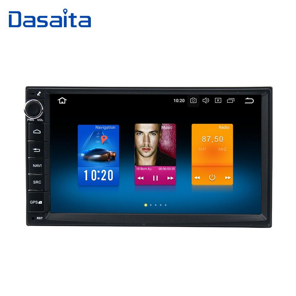 Dasaita Android 9,0 автомобильный двойной Din автомобильный радиоприемник 4*50 Вт универсальный для Nissan Qashqai X-Trail Patrol Tiida Versa Livina Navara NP300