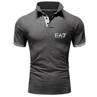 2021 fashion polo shirt brand short sleeve t shirt set mens jersey summer business luxury leisure sports breathable comfort